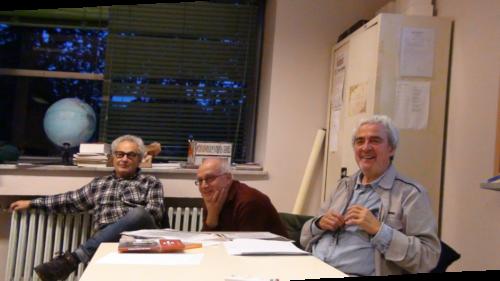 Alcuni dei componenti del CDS tengono la lezione sulla storia del quartiere - 05/11/2018