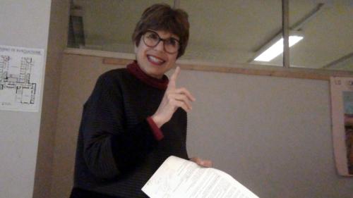 """Chiara Ottaviano tiene la lezione su """"autobiografia e storia"""" - 23/11/2018"""
